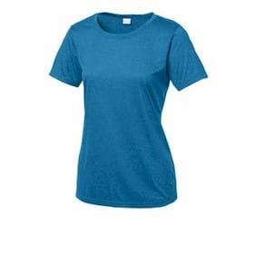 Sport-Tek LADIES' Heather Contender Scoop Neck Tee