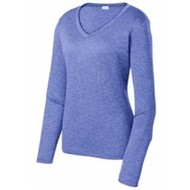Sport-tek | Sport-Tek LADIES' LS Heather Contender V-Neck Tee