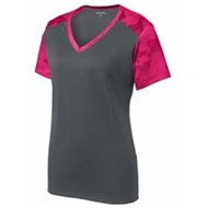 Sport-tek | Sport-Tek LADIES' CamoHex Colorblock V-Neck Tee
