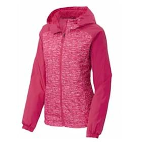 Sport-Tek LADIES' Heather Raglan Wind Jacket
