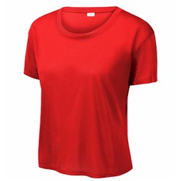 Sport-tek | SportTek Ladies Tri-Blend Wicking Draft Crop Tee