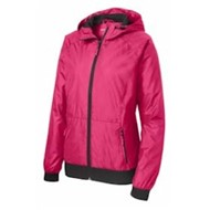 Sport-tek | Sport-Tek LADIES' Embossed Hooded Wind Jacket