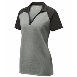 Sport-tek | SportTek Ladies Raglan Heather Block Polo