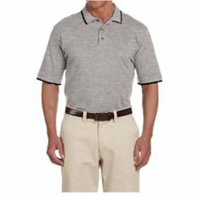 Harriton Short Sleeve Pique Polo with Tipping