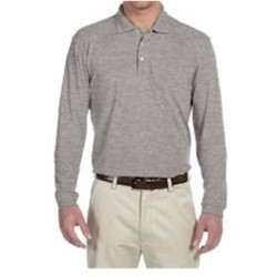 Harriton | L/S Harriton 5oz. Easy Blend Polo