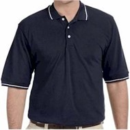 Harriton | Harriton 5.6oz. Tipped Easy Blend Polo