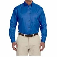 Harriton | Harriton Long-Sleeve Twill Shirt with Stain