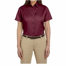 Harriton LADIES' S/S Twill Shirt w/ Stain Release