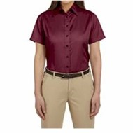 Harriton | LADIES' S/S Twill Shirt w/ Stain Release