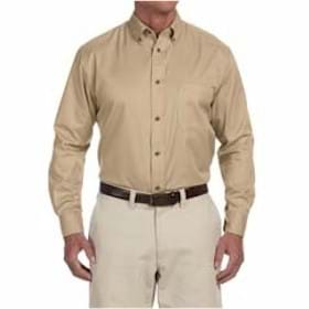 Harriton TALL L/S Easy Blend Twill Shirt