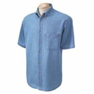 Harriton | Harriton S/S Denim Shirt