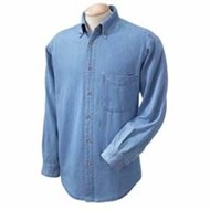 Harriton | Harriton TALL L/S Denim Shirt