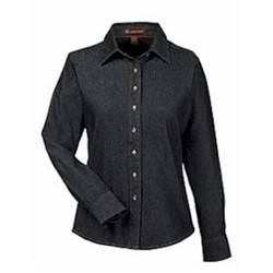 Harriton | Ladies' L/S Denim Shirt