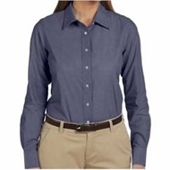 Harriton | Harriton LADIES' 3.48oz. Chambray Shirt