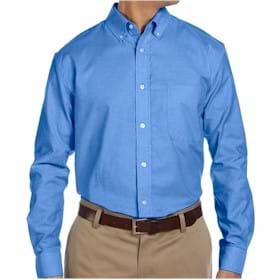Harriton Long-Sleeve Oxford with Stain Release