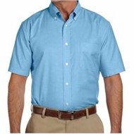 Harriton | Harriton Short-Sleeve Oxford with Stain Release