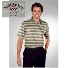 Monterey Club Dry Swing Texture Stripe Shirt