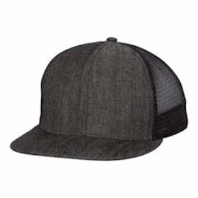 Mega Cap Flat Bill 6-Panel Trucker Cap