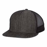 Mega Cap | Mega Cap Flat Bill 6-Panel Trucker Cap