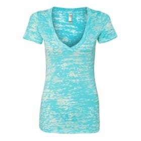 Next Level LADIES' Burnout Crossover V-Neck Shirt