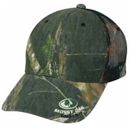 Outdoor Cap | Outdoor Cap Mossy Oak Visor Log Mesh Back Cap