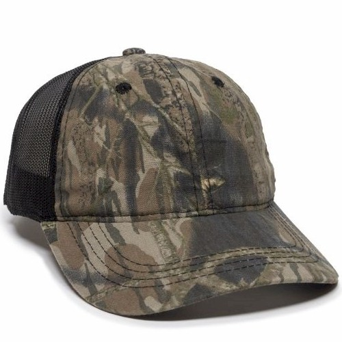 Outdoor Cap Camo Front with Solid Mesh Back Cap