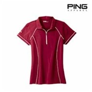 PING | PING LADIES' Quarter-Zip Polo