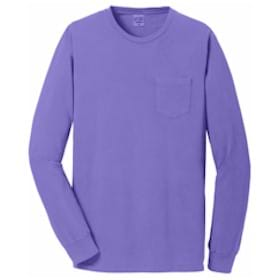Port & Company® Pigment-Dyed L/S Pocket Tee