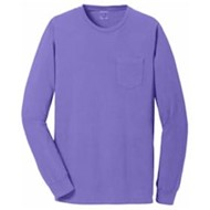 Port Authority | Port & Company® Pigment-Dyed L/S Pocket Tee