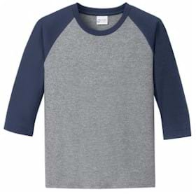 Port & Company YOUTH 3/4 Sleeve Raglan T-Shirt
