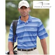 Page & Tuttle | Page & Tuttle Cool Swing Watercolor Stripe Polo