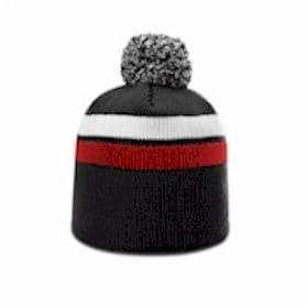 Richardson 2 Stripe Pom Beanie