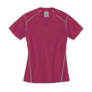 Rivers End | Rivers End LADIES' Contrast-Stitch V-Neck Tee