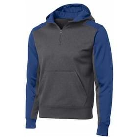 Sport-Tek Fleece 1/4 Zip Hooded Sweatshirt