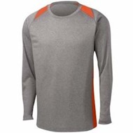Sport-tek | L/S Heather Colorblock Contender Tee