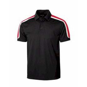 Sport-Tek Tricolor Shoulder Micropique Polo