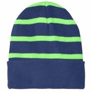 Sport-tek | Sport-Tek Striped Beanie with Solid Band