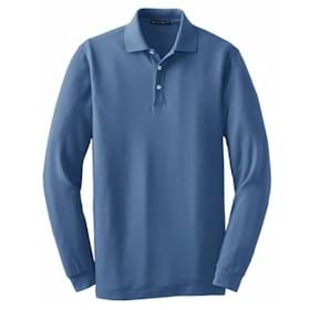 Port Authority TALL L/S EZCotton Pique Polo