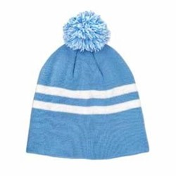 TEAM365 | Team 365 Striped Pom Beanie