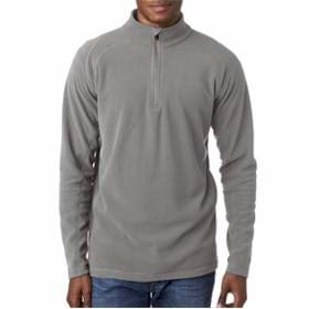 UltraClub Cool & Dry 1/4-Zip Micro-Fleece