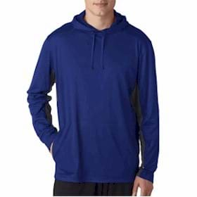 UltraClub Cool & Dry Sport Hooded Pullover
