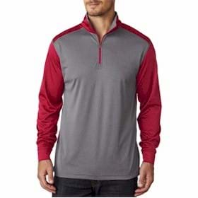 UltraClub Cool & Dry Sport 2-Tone 1/4-Zip Pullover
