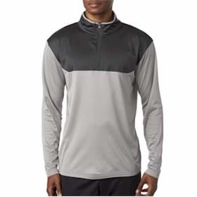 UltraClub Sport Color Block 1/4-Zip Pullover
