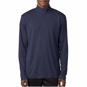 UltraClub Striped 1/4-Zip Pullover