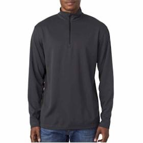 UltraClub 2-Tone Keyhole Mesh 1/4-Zip Pullover