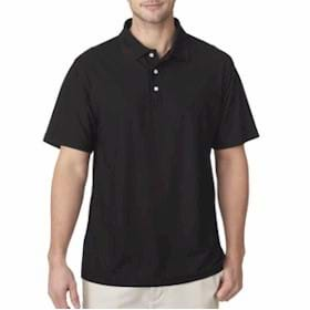 UltraClub Cool & Dry Pebble-Knit Polo
