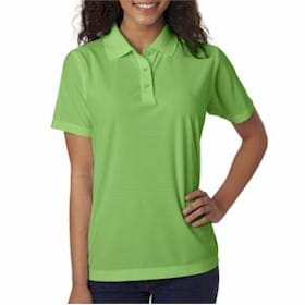 UltraClub LADIES' Box Jacquard Performance Polo