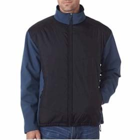 UltraClub Jacket w/ Quilted Front & Back