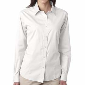 Ultra Club LADIES' Non Iron Pinpoint Shirt
