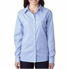 UltraClub LADIES' Medium-Check Woven